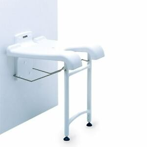 Wall Mounted Fold Up Shower Bath Seat Bench With Drop Down Legs Folding And Gap Ebay