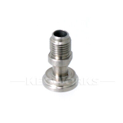 """Tail Piece With 1/4"""" Mfl Connector - Swap Commercial & Homebrew Kegs Easily"""