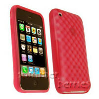 Red Translucent Silicone Skin Case for Apple iPhone 3G