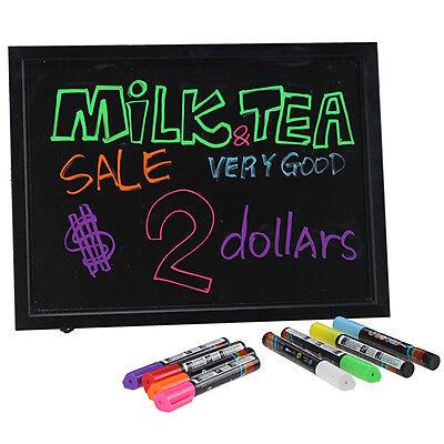 "Flashing Illuminated Erasable Neon LED Message Writing Board Menu Sign 16x12""Ads"