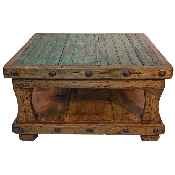 square coffee table with shelf brazilian pine rustic western lodge