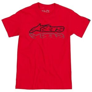 Alpinestars-Shiner-T-Shirt-Small-Red-Genuine-Crew-Neck-Tee-Casual-Top-Clothing