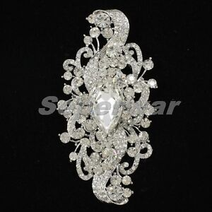 Bridesmaid Bridal Fashion Flower Brooch Pin 4.5