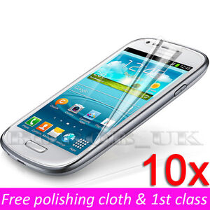 10 x Clear Lcd Screen Protector Cover Guard For Samsung Galaxy S3 Mini I8190