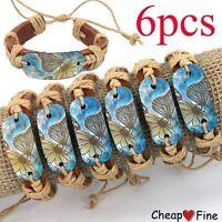 BUTTERFLY PEACE leather bracelet---NEW!!!