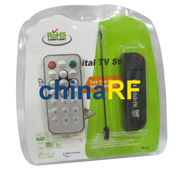 2pcs DVB-T USB TV FM+DAB Radio Tuner Receiver Stick Realtek RTL2832U+R820T MCX