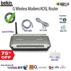 Belkin-ADSL-Wireless-G-Modem-Router-F5D7632-for-BT-Line