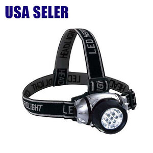 NEW LED Head Lamp Light Hands Free Headband Camping Home Survival Emergency Auto
