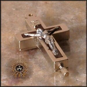 Cross Crucifix Catholic Tomb Soil Relic Reliquary Roman Christian Catacombs St