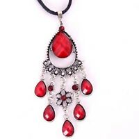 CRYSTAL RESIN PENDANT CHARMS NECKLACE--NEW!