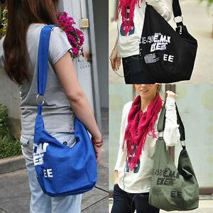 Fashion-Womens-Bag-Canvas-Travel-Satchel-Backpack-Student-Gift-shoulder-Leisure