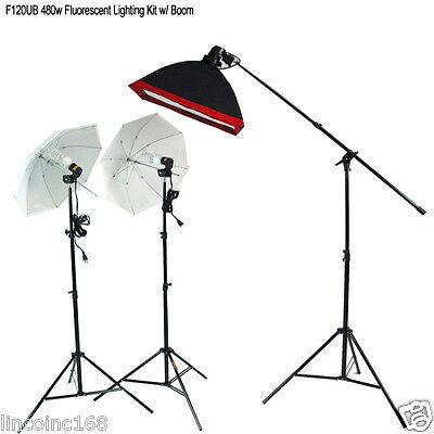 Britek 480w Fluorescent Light Kit W/ Boom Arm Lighting St...