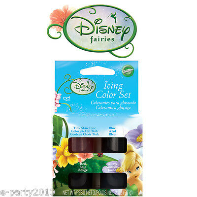 NEW Wilton FAIRIES TINK 4 Icing Colors Set #5110 Toys