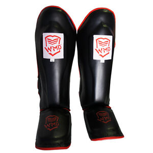 KICK-BOXING-MMA-SHIN-GUARDS-SHINGUARD-INSTEP-LEG-PADS