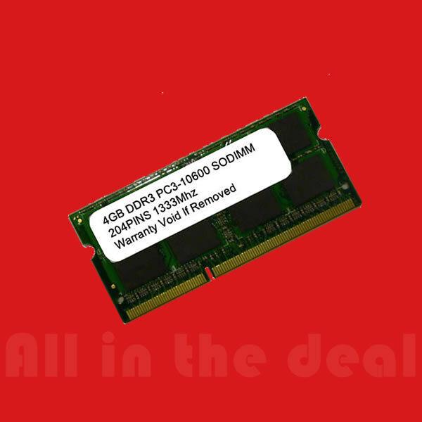 4gb Ddr3 1333 Pc3-10600 Sodimm 1333mhz 204 Pin Laptop Memory