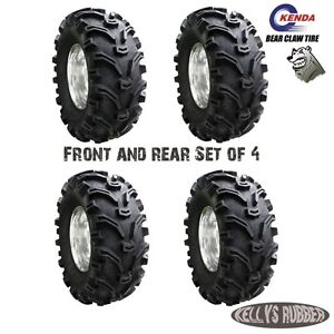 Kenda Bear Claw 24x8-12 x2  & 24x10-11 x2 Set of 4 ATV Tyres Honda trx 420