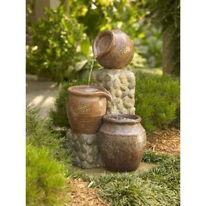 Garden-Pot-Fountain-Decor-Water-Pond-Outdoor-Patio-Waterfall-Vintage-NEW
