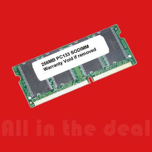 256mb Pc133 Sodimm Sdram 133 Mhz 144 Pin Laptop Ram Memory