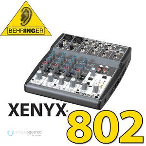 behringer xenyx 802 compact 8 channel audio mixer w phantom power. Black Bedroom Furniture Sets. Home Design Ideas