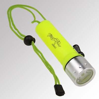 Led Diver's Flashlight Underwater Light Waterproof Submersible See Safe Swim