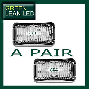 LED 12V 24V MARKER LIGHT CLEARANCE LAMPS WHITE