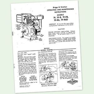 briggs and stratton owners manual