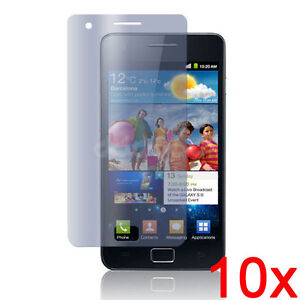 10 X CLEAR LCD SCREEN PROTECTOR FOR SAMSUNG i9100 GALAXY S2