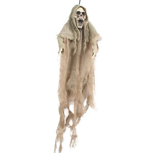 Scarey-Skull-Ghost-Hanging-with-Shroud-Door-Hanger-Halloween-Party-Prop-50cm