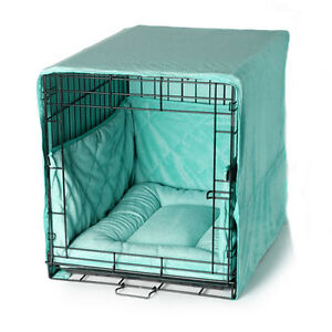 Pet-Dreams-PLUSH-BLUE-19-Dog-Pet-Puppy-Wire-Crate-Training-Cover-Bed-Bumper-Pad