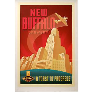 New buffalo brewing company poster city hall craft brewery for Craft stores buffalo ny