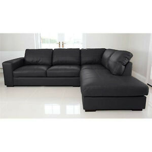 WESTPOINT-CORNER-SOFA-BLACK-FAUX-LEATHER-RIGHT-HAND-SIDE