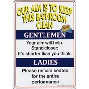 Bathroom Tin Signs