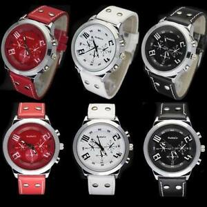 3PCS-Newest-Beautiful-Leatheroid-Fashionable-Wrist-Watch