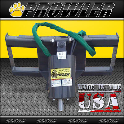 Prowler Heavy Duty Skid Steer Auger Drive Mounting Plate Hydraulic Hoses