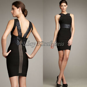 Bandage-Dress-Bodycon-Dresses-Evening-Cocktail-Party-Prom-Dress-Black-XS-S-M-L