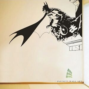 Top design batman wall art stickers batman wall decor for Batman mural wallpaper uk