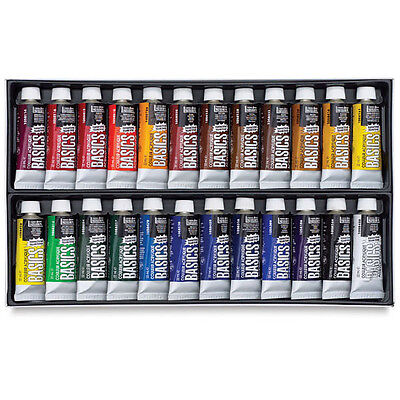 Liquitex Basics ACRYLIC PAINT Assorted 24 Color Set 22ml Squeeze Tubes on Rummage