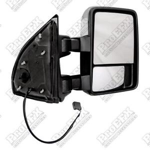 99-11-FORD-SUPERDUTY-CAMPER-TOW-MIRROR-2-EXTENDED-POWER-GLASS-CHROME-PTM-CAP