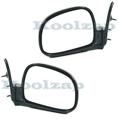 94-97 Chevy S10 Pickup Truck Manual Black Fold Mirror Left & Right Side Set Pair