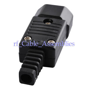 2x-IEC-C14-rewirable-connector-IEC-C14-plug-male-10A-250V-NEW-HOT-Sells