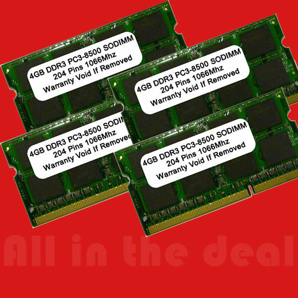 16gb 4x 4gb 1066mhz Ddr3 Ram Memory For Apple Imac