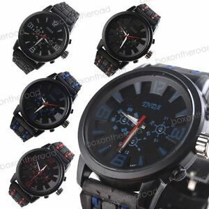 New-Fashion-Men-Women-Rubber-Band-Army-Military-Quartz-Wrist-Watch-4-Colors