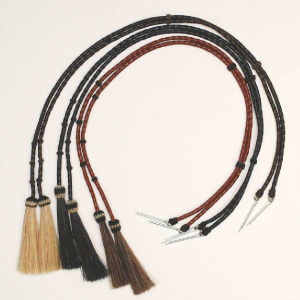 Braided Leather-horse Hair Stampede String Chin Strap/hat/cotter Pin