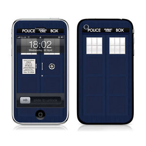 Official Doctor Who Police Box Skin Cover For Various Mobiles And Devices