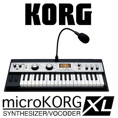 KORG Micro MicroKORG XL Synthesizer Vocoder Keyboard BK on Rummage