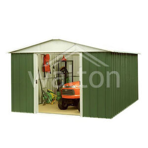 10' x 13' Yardmaster Apex Metal Garden Storage Shed - Quality Galvanised Steel