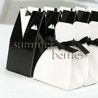 Tuxedo & Gown Favor Boxes (Set of 10)