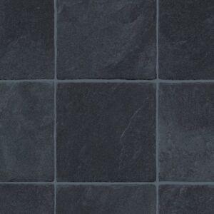 4 5mm extra thick vinyl flooring black dark tile effect for Black tile effect vinyl flooring