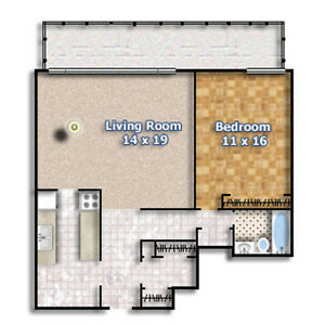 Hydro INC! Mar 1!! Spotless-XL-1 Bed Apt-Shep WEST & Jane City of Toronto Toronto (GTA) image 5