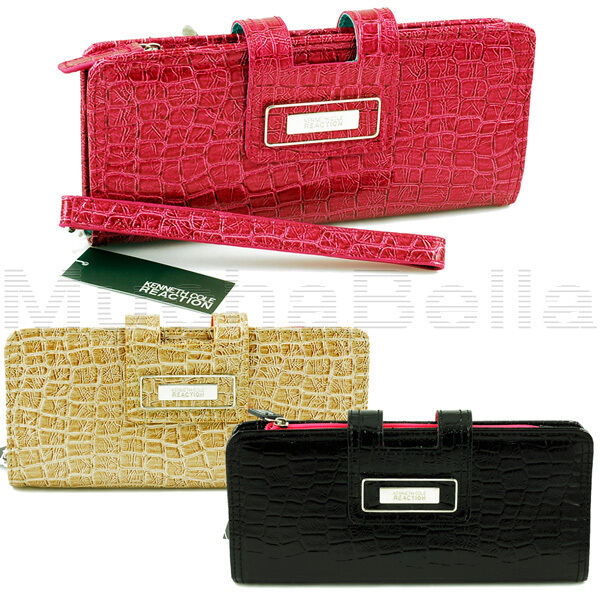 This stylish clutch from kenneth cole reaction features a snap-close top flap entry